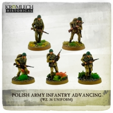 Polish Army Infantry (wz. 36 uniforms) advancing with rifles (5)