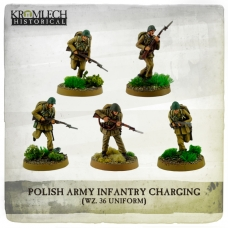 Polish Army Infantry (wz. 36 uniforms) charging with rifles (5)