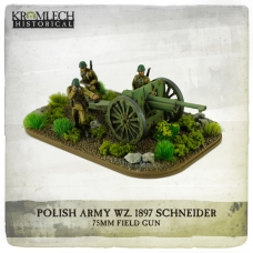 Polish Army wz.1897 Schneider 75mm field gun with crew (cannon + 3)