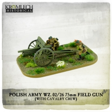 Polish Army wz.02/26 75mm field gun with Cavalry crew (cannon + 3)