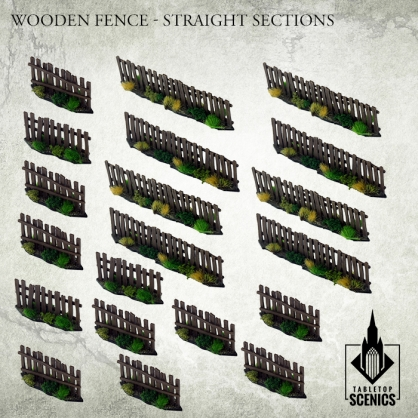 Wooden Fence - Straight Sections