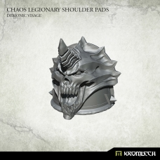 Chaos Legionary Shoulder Pads: Demon Visage
