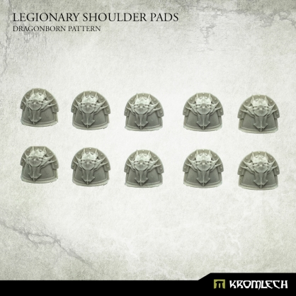 Legionary Shoulder Pads: Dragon Pattern