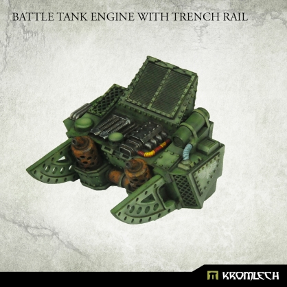 Battle Tank Engine with Trench Rail