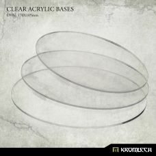 Clear Acrylic Bases: Oval 170x105mm (3)