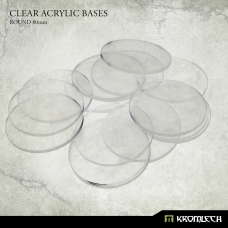 Clear Acrylic Bases: Round 80mm (10)