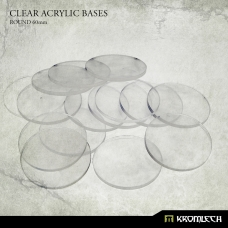 Clear Acrylic Bases: Round 60mm (15)