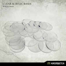Clear Acrylic Bases: Round 50mm (15)