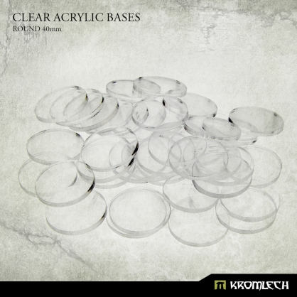Clear Acrylic Bases: Round 40mm (25)
