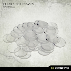 Clear Acrylic Bases: Round 32mm (40)