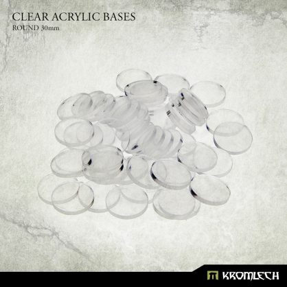 Clear Acrylic Bases: Round 30mm (40)