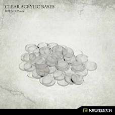 Clear Acrylic Bases: Round 25mm (50)