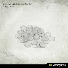 Clear Acrylic Bases: Round 20mm (50)