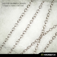 Silver Hobby Chain 3,5mm x 3mm (1 meter)