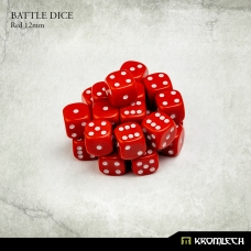Battle Dice 25x Red 12mm
